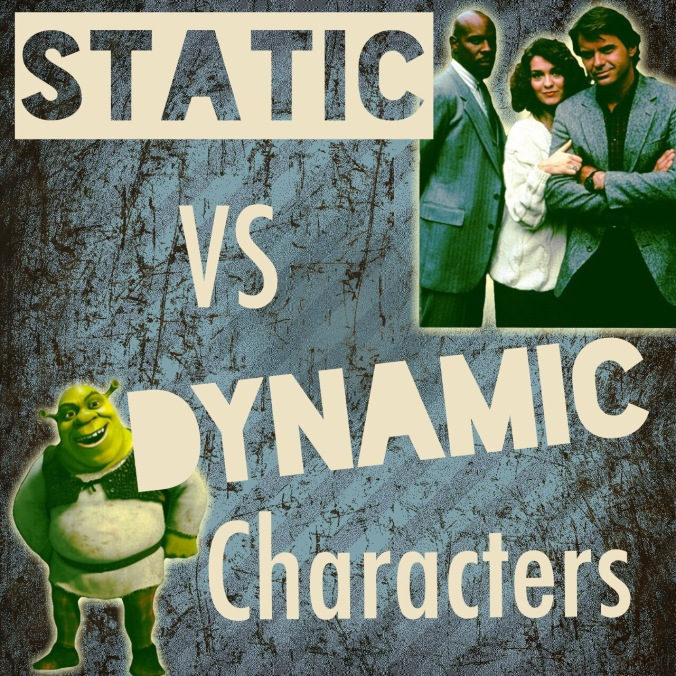 static (flat) vs dynamic (round) characters